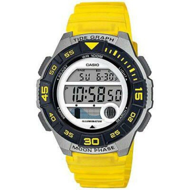 Casio-LWS-1100H-9AV-Tide-Moon-Graph-100-Meter-WR-Yellow
